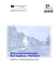 Wohnungsmarktkonzept Bad Segeberg ... - Stadt Bad Segeberg