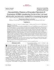(ESBL)-producing Escherichia coli and Klebsiella pneumoniae ...