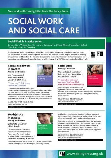 Social Work and Social Care flyer - Policy Press