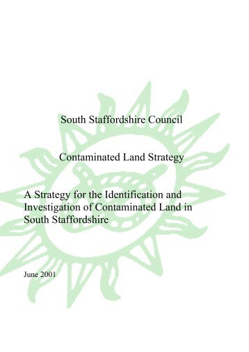 South Staffordshire Council Contaminated Land Strategy A Strategy ...