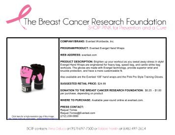 Sports - Breast Cancer Research Foundation