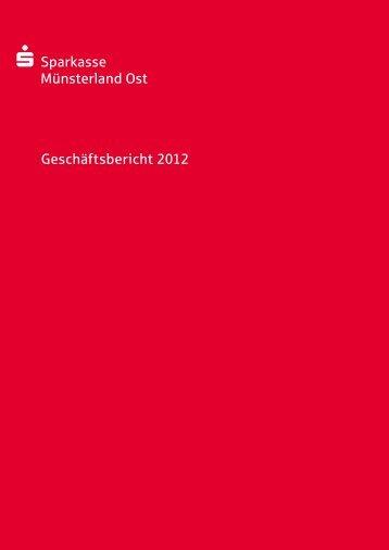Geschäftsbericht 2012 - Sparkasse Münsterland Ost