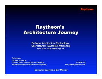 Architecture - Software Engineering Institute - Carnegie Mellon ...