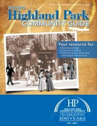 Summer 2011 - Highland Park Chamber of Commerce