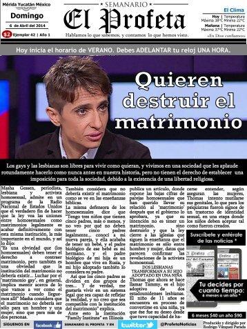 Semanario El Profeta 6 Abril 2014 Ejemplar 42