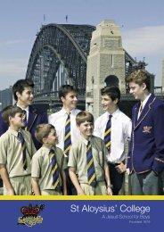 College Prospectus - St Aloysius