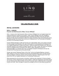 the linq project team retail advisors - Caesars Entertainment