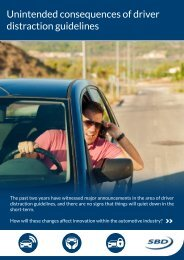 Unintended consequences of driver distraction guidelines - SBD