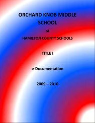 orchard knob middle school - Hamilton County Department of ...