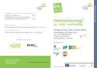 Intensivierung? - Ökosoziales Forum