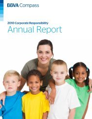 2010 BBVA Compass Corporate Responsibility Annual Report