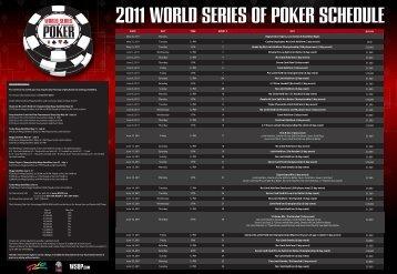 2011 WORLD SERIES OF POKER SCHEDULE - WSOP.com