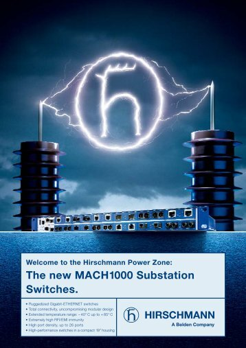 The new MACH1000 Substation Switches. - Kassex