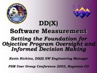 DD(X) Software Measurement - Practical Software and Systems ...