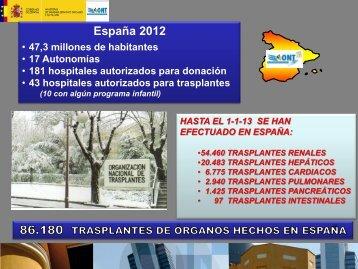 2012 - Organización Nacional de Trasplantes