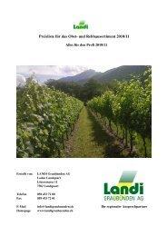 Preisliste Rebbau Alles für den Profi 2010-11 - LANDI Graubünden AG