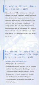 Blei und Trinkwasser - Schlosser Haustechnik - Seite 2