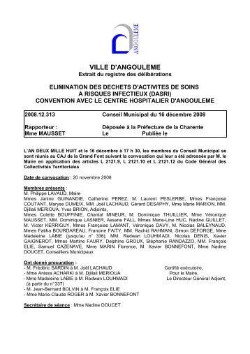 elimination des dechets de soins a risques infectieux ... - Angoulême