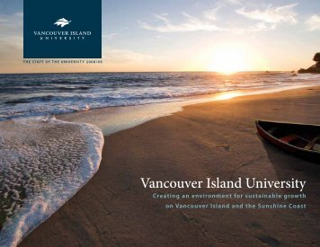 2008/09 The State of the University Report - Vancouver Island ...