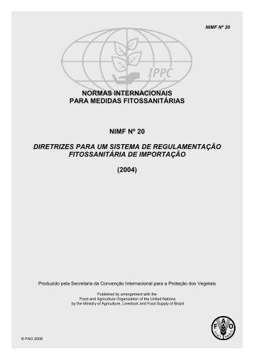 normas internacionais para medidas fitossanitárias nimf nº 20 ...