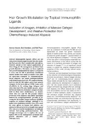 Hair Growth Modulation by Topical Immunophilin Ligands