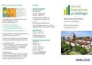 Flyer Betreutes Wohnen (PDF) - Freiburg für Alle