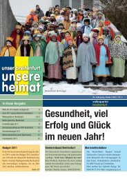 Unsere Breitenfurter Pfarren: Pfarre St. Johann und ... - VP Breitenfurt