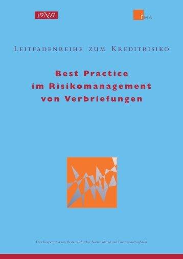 Best Practice im Risikomanagement von Verbriefungen