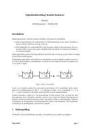 Opholdstidsfordeling i Kemiske Reaktorer Introduktion 1 ...