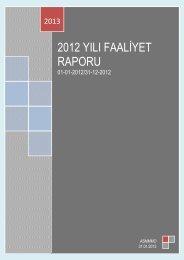 2012 yılı faaliyet raporu - asmmmo