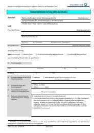 Netzanschlussvertrag (Niederdruck) - Stadtwerke Neustadt
