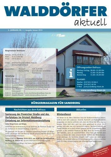 Ausgabe Januar 2013 - Gemeinde Sandberg