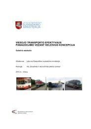 Viešojo transporto efektyvaus panaudojimo vežant keleivius ...