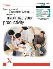 Document Centre 490 Brochure (PDF, 436 KB) - Xerox