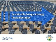 Sustainable Energy Strategy Implementation - City of Las Vegas