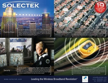 Leading the Wireless Broadband Revolution™ - Solectek Corporation