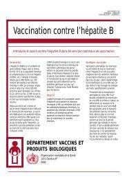 Introduire le vaccin contre l'hépatite B dans les services ... - Path