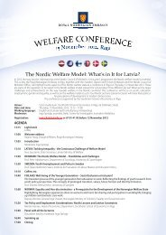 The programme of the conference