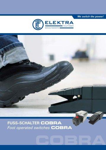 FUSS-SCHALTER COBRA Foot operated ... - ELEKTRA Tailfingen
