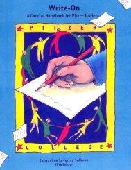 Write-On Writing Handbook - Pitzer College
