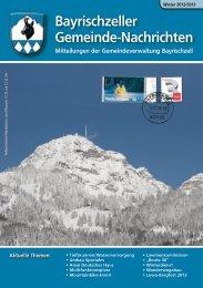 Bayrischzeller Gemeindenachrichten Weihnachten 2012