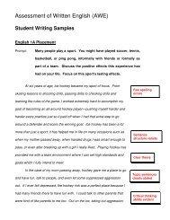 Assessment of Written English (AWE)
