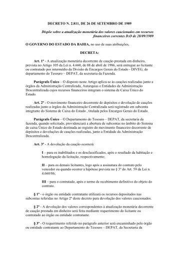2.811 - Secretaria da Fazenda do Estado da Bahia
