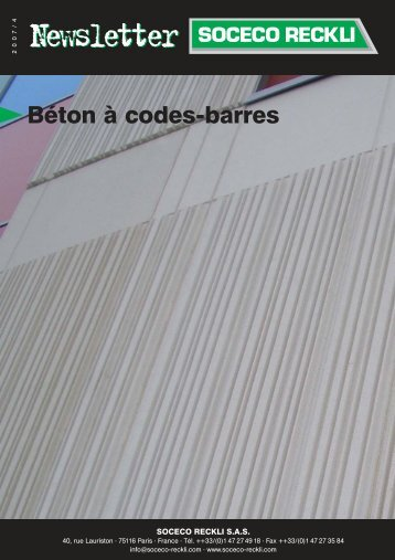 Béton à codes-barres