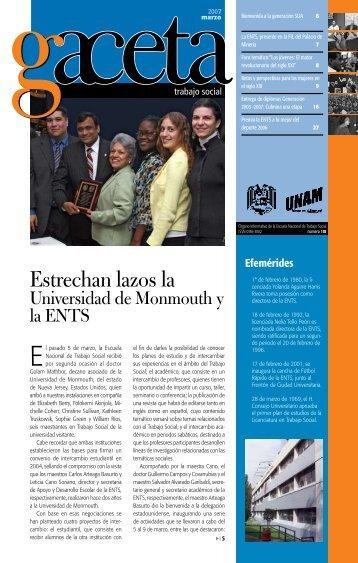 Estrechan lazos la - Escuela Nacional de Trabajo Social - UNAM