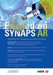 AGFA SYNAPS™ AR - Removable pressure sensitive self-adhesive
