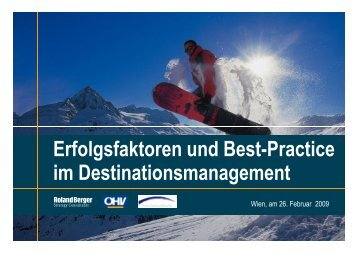 2. Erfolgsfaktoren im Destinationsmanagement - Seilbahn.net