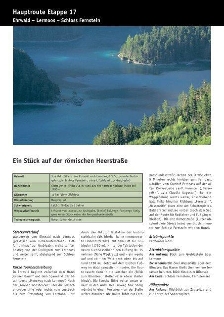 Etappe 17 - Mieminger Plateau