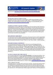CAMPUS NEWS - University of Queensland