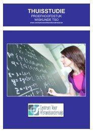 CURSUS WISKUNDE TSO - Ondernemersschool